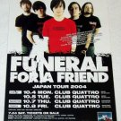 FUNERAL FOR A FRIEND tour & CD flyer Japan 2004 & more! [PM-100f]