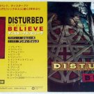 DISTURBED Believe CD gatefold flyer Japan 2000 [PM-100f]