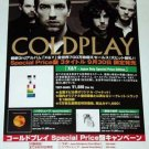 COLDPLAY X & Y / Parachutes CD flyer Japan 2005
