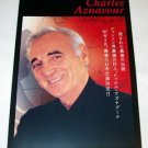CHARLES AZNAVOUR farewell tour flyer Japan 2007 & more [MX-250]