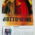 BOTTOM LINE In and Out of Luck CD flyer Japan 2002 [PM-100f]