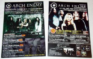 ARCH ENEMY two tour & CD flyers Japan 2004 [PM-100f]