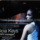 ALICIA KEYS MTV Unplugged CD & DVD flyer Japan 2005 [PM-100f]