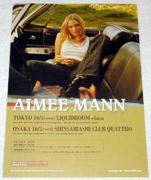 AIMEE MANN concert flyer Japan 2005 [PM-100f]