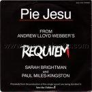 SARAH BRIGHTMAN & PAUL MILES-KINGSTON Pie Jesu from Requiem 45 Japan promo w/PS [7-100]