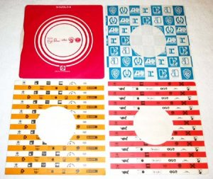 "4 Japanese 7"" record company sleeves Charisma Vertigo WEA, Pye Dawn [PM-100]"