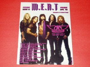 MEAT Canada metal mag #41 Aerosmith Quireboys Living Colour Monster Magnet Bolt Thrower [MX-250]