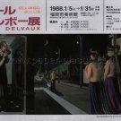 PAUL DELVAUX exhibition flyer Japan 1988 [PM-100]