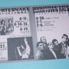 WHITESNAKE BOOMTOWN RATS TOM PETTY DEVO flyer from Japan 1980 [PM-100f]