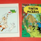 THE ADVENTURES OF TINTIN Herge two postcards from the EC [PM-50]