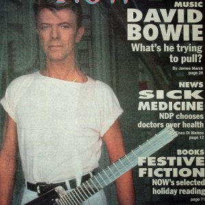 DAVID BOWIE JOHN SCOTT IRVINE KORMAN AYANNA BLACK mag Canada November 28, 1991 [SP-500]