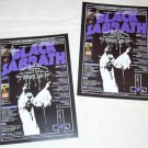 BLACK SABBATH two copies of Japanese flyer for Paper Sleeve Collection CDs 2007