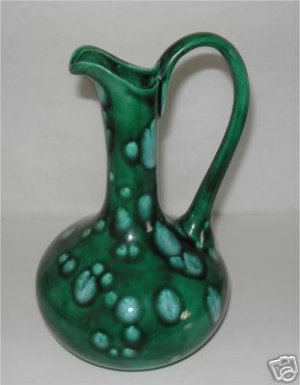 Beautiful Green Pitcher Unique Design       M2