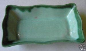 Green California Pottery Walker 949 Dish Tray       M2