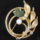 Vintage Sarah Cov Signed Goldtone Brooch / Pin   N1
