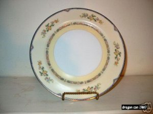 Meito China Hand Painted Flower Pat. Dinner Plate I07