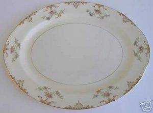 Homer Laughlin Large Oval Platter Aristocrat Design