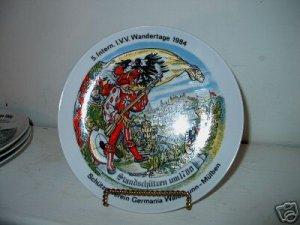1984  Wandertage German Collectors Plate   I18
