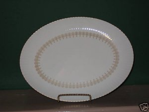 Gold China Triumph Oval Serving Platter  I52