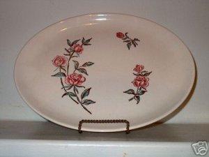 Stetson Ovenproof Rose Pat. Oval Platter  I17
