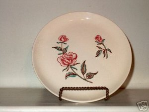 Stetson Ovenproof Rose Pat. Lunch Plate  I17