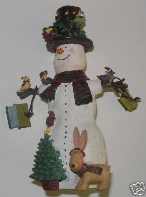 Snowman All Decked Out Sue Dreamer 1998  A2
