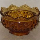 Fenton Hobnail Small Candle Holder With Label   I01