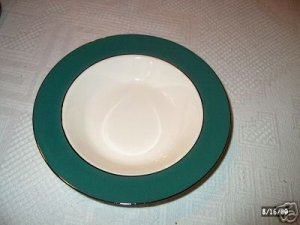 Laughlin Cavalier Eggshell Green Soup Bowl I05