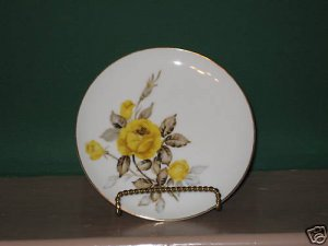 Cotillion by Japan Sango Yellow-Rose Bread Plates 8 I63