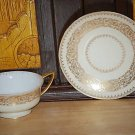 RARE Pitkins and Brooks double handled Cup & Saucer I75
