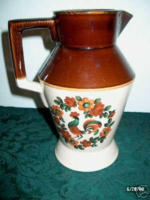 Fantastic Rooster Pitcher Marked USA I01