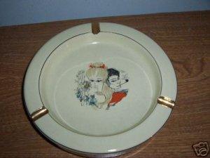 Vintage Ashtray Ceramic Florentine Italy I28