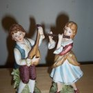 Lefton Figurines Boy Girl Musicians # 726 B01