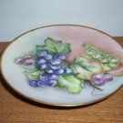 Artist Signed Floral Decorated Footed Plate B1