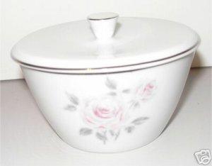 Sugar Bowl W Lid Rose China N  Perfection Japan  M1