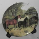 Collector Plate Horses Eating Formalities by Baum    MT