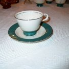 Laughlin Cavalier Eggshell Green Footed Cup /Saucer I05