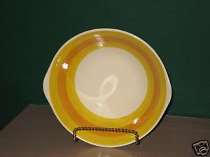 Majolica Orange Kasuga Lugged Soup Bowl I39