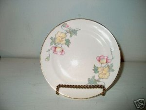 Crooksville James California Poppy Bread Plate  I22