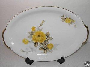 "Cotillion Yellow Rose Sango Medium 14"" Platter M4"