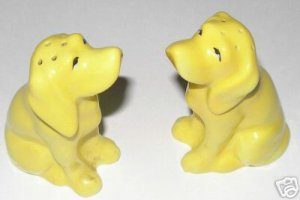 Vintage Dog Salt & Pepper Shakers Setter or Springer A1