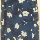 TRACY EVANS Long Blue FLORAL PRINT WRAP Skirt size 13