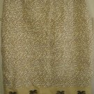 SILK CLUB Beige Knee-Length LEOPARD PRINT LINEN Skirt size 12
