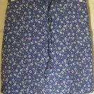 RIKKI J. Blue Mid-Thigh STRETCH FLORAL PRINT Skirt size 3