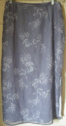 NORTON MCNAUGHTON Long Lavender FLORAL PRINT Skirt size PXL