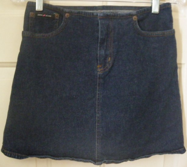 DKNY JEANS Blue Mid-Thigh STRETCH DENIM Skirt size 1