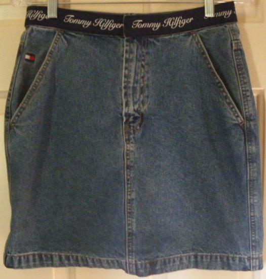 TOMMY HILFIGER Blue Mid-Thigh DENIM Skirt size 6