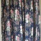 SAG HARBOR Navy Blue Long PLEATED Floral Print Skirt size M