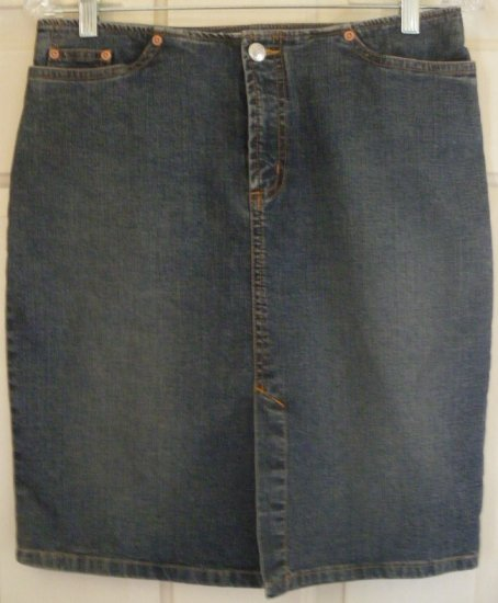 OLD NAVY Blue Above-Knee STRETCH DENIM Skirt size 4