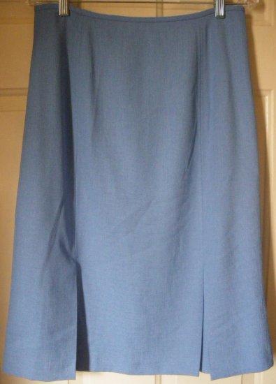 KASPER Blue Below-Knee GODET HEM Skirt size 12